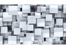 Fotobehang 3D, Design   Zilver   312x219cm