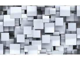 Fotobehang Vlies | 3D, Design | Zilver | 368x254cm (bxh)