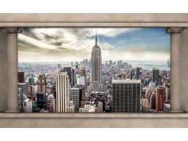 Fotobehang Papier Skyline, Modern | Crème, Grijs | 254x184cm