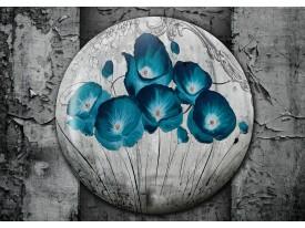Fotobehang Vlies | Bloemen, Klaproos | Turquoise | 368x254cm (bxh)
