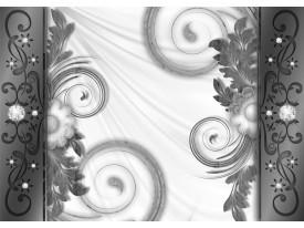 Fotobehang Modern | Grijs, Wit | 208x146cm