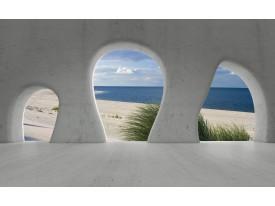 Fotobehang Vlies | Strand, Muur | Grijs | 368x254cm (bxh)