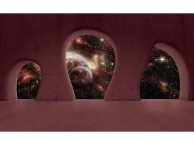 Fotobehang Vlies | Nacht, Muur | Bruin | 368x254cm (bxh)