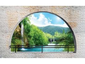 Fotobehang Natuur, Muur | Groen | 208x146cm