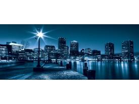 Fotobehang Steden, Skyline   Blauw   250x104cm
