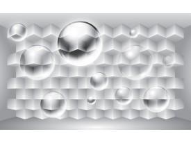 Fotobehang Papier 3D, Design   Zilver   254x184cm