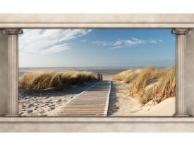 Fotobehang Papier Strand, Zee | Crème | 254x184cm