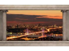 Fotobehang New York | Oranje | 208x146cm