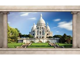 Fotobehang Vlies | Frankrijk, Parijs | Blauw | 368x254cm (bxh)