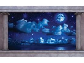 Fotobehang Nacht, Maan   Blauw   416x254