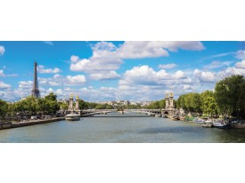 Fotobehang Parijs, Fankrijk   Blauw   250x104cm