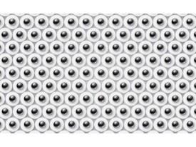 Fotobehang Vlies | 3D | Zwart, Wit | 368x254cm (bxh)