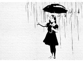 Fotobehang Vlies | Street Art | Zwart, Wit | 368x254cm (bxh)