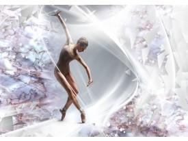 Fotobehang Vlies | Dansen, ballet | Zilver | 368x254cm (bxh)