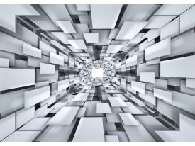 Fotobehang Vlies | 3D, Modern | Zilver | 368x254cm (bxh)