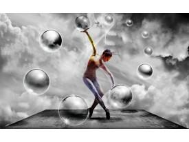 Fotobehang Vlies | 3D, Dansen | Grijs | 368x254cm (bxh)
