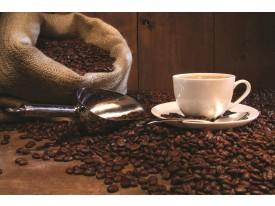 Fotobehang Koffie, Keuken | Bruin | 208x146cm