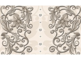 Fotobehang Papier Klassiek | Crème | 254x184cm