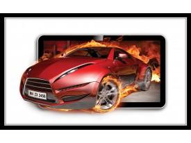 Fotobehang Auto, Vuur | Rood | 208x146cm