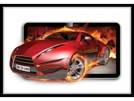 Fotobehang Vlies | Auto, Vuur | Rood | 368x254cm (bxh)
