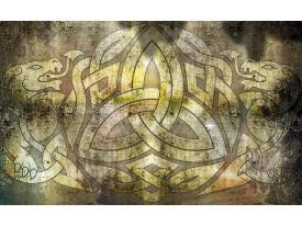 Fotobehang Abstract   Geel, Bruin   416x254