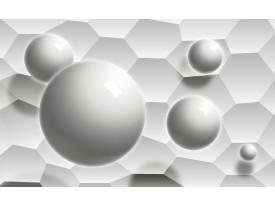Fotobehang 3D, Modern | Wit, Grijs | 104x70,5cm