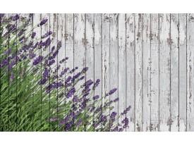 Fotobehang Papier Hout, Lavendel   Grijs   254x184cm