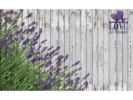 Fotobehang Vlies | Hout, Lavendel | Grijs | 368x254cm (bxh)