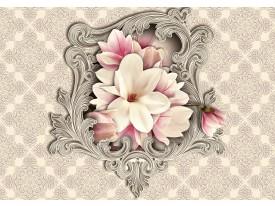 Fotobehang Magnolia, Bloem | Crème | 416x254