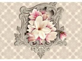 Fotobehang Vlies | Magnolia, Bloem | Crème | 368x254cm (bxh)