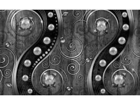 Fotobehang Modern | Zilver, Zwart | 208x146cm