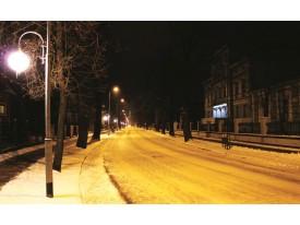 Fotobehang Straat | Geel, Zwart | 208x146cm