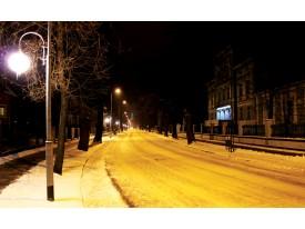 Fotobehang Vlies | Straat | Geel, Zwart | 368x254cm (bxh)