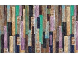Fotobehang Vlies | Hout, Landelijk | Groen, Paars | 368x254cm (bxh)