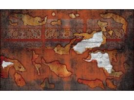 Fotobehang Muur   Oranje, Bruin   208x146cm