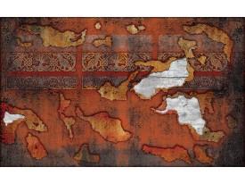 Fotobehang Vlies | Muur | Oranje, Bruin | 368x254cm (bxh)