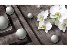 Fotobehang 3D, Orchidee | Grijs | 416x254