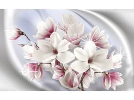 Fotobehang Vlies | Magnolia, Bloemen | Zilver | 368x254cm (bxh)
