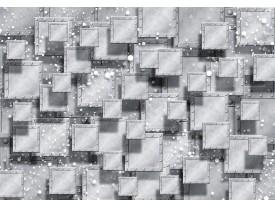 Fotobehang Vlies | 3D, Modern | Grijs, Zilver | 368x254cm (bxh)