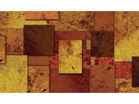 Fotobehang Modern   Bruin, Oranje   104x70,5cm