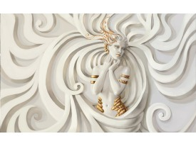 Fotobehang Papier 3D, Modern | Crème | 254x184cm