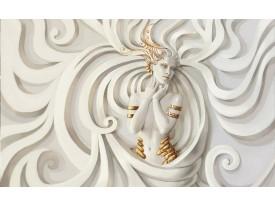 Fotobehang 3D, Modern | Crème | 416x254