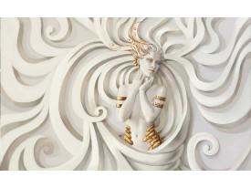 Fotobehang Vlies | 3D, Modern | Crème | 368x254cm (bxh)