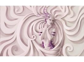 Fotobehang Vlies | 3D, Modern | Paars | 368x254cm (bxh)