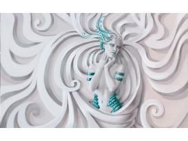 Fotobehang Vlies | 3D, Modern | Turquoise | 368x254cm (bxh)