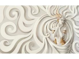 Fotobehang 3D, Modern | Goud | 312x219cm