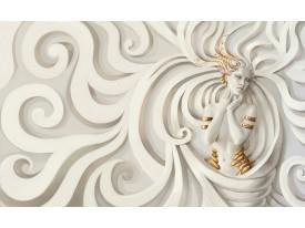 Fotobehang Vlies | 3D, Modern | Goud | 368x254cm (bxh)