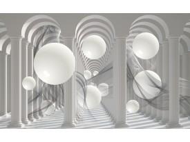 Fotobehang Vlies | 3D, Modern | Wit | 368x254cm (bxh)