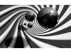 Fotobehang 3D | Zwart, Wit | 152,5x104cm