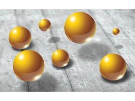 Fotobehang Vlies | 3D | Goud, Grijs | 368x254cm (bxh)